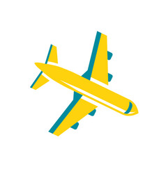 travel airplane vector image