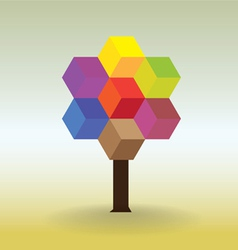 Tree form cubes vector