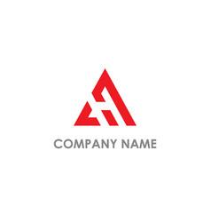 triangle delta company logo vector image