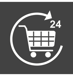 Twent-Four Hour Shopping vector