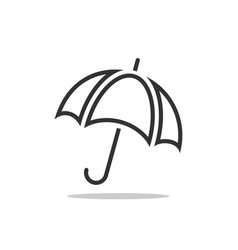umbrella icon rain protection concept for vector image
