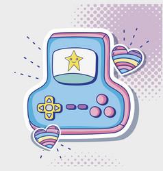 Videogame retro console cartoon vector