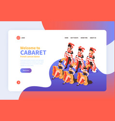 welcome to cabaret isometric landing page vector image