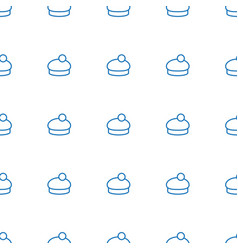 woman hat icon pattern seamless white background vector image