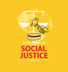 World social justice day concept february 20 vector