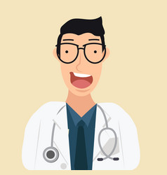 young man doctor cartoon vector image