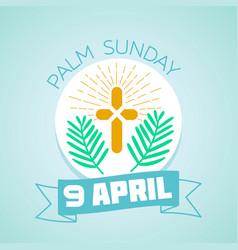 9 april palm sunday vector
