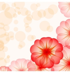 eps10 romantic floral background with red flowers vector image vector image