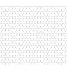 Gray hexagon grid seamless pattern vector image vector image