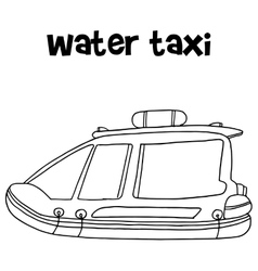 Water taxi of transportation hand draw vector image