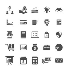 bussines icon set vector image