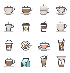 Coffee Icon Bold Stroke with Colo vector image vector image