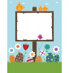 Easter sign post vector image vector image