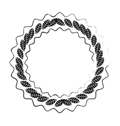 ecology stamp emblem vector image vector image
