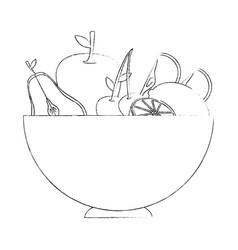 healthy fruits design vector image vector image