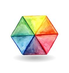 Hexagon design element vector