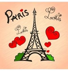 Paris Love romance vector image