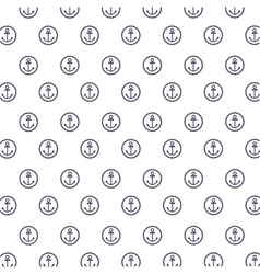pattern with circular stamp anchor vector image