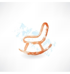 rocking chair grunge icon vector image