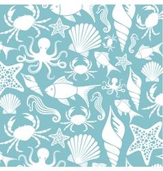 sea life seamless pattern vector image vector image