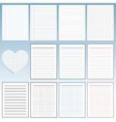 Set of notebook papers vector image