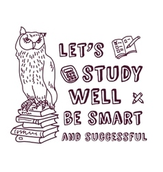Study learning positive idea ink doodles with sign vector image