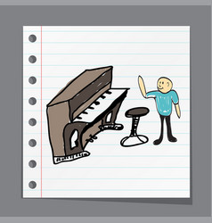 a group of musicians playing music vector image vector image