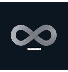 Abstract infinity symbol on Dark Background vector image vector image