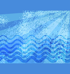 blue summer sea cartoon abstract background vector image