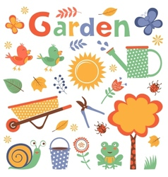 Colorful garden vector image vector image