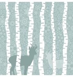 Deer in wood3 vector image