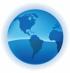 growing globe vector image vector image
