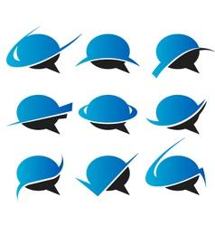 Speech bubble Logo Icons vector image vector image