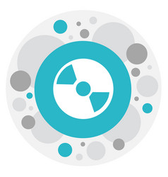 Of mp3 symbol on cd icon vector