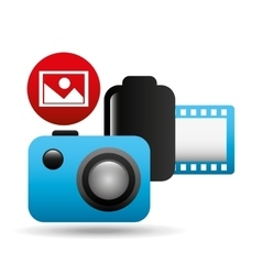photographic camera image negative roll vector image vector image