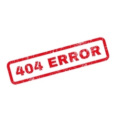 404 Error Text Rubber Stamp vector image