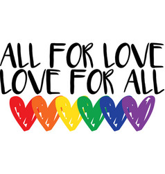 All for love love for on white background vector