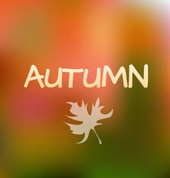 Autumn Season Background design vector
