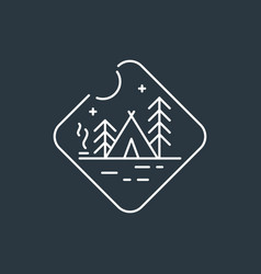 Badge camping logo vector