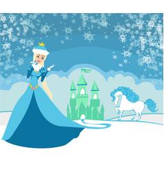 Beautiful winter princess vector