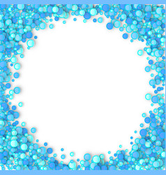 Blue carnaval confetti background vector