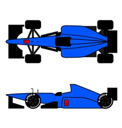 Blue racing car vector