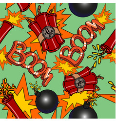 boom seamless pattern vector image