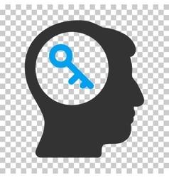 Brain Key Icon vector