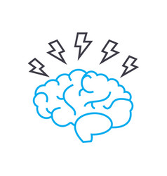 brainstorm idea thin line stroke icon vector image