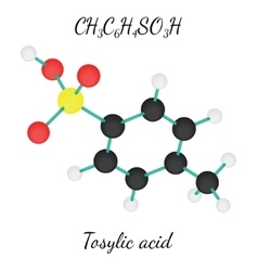 CH3C6H4SO3H Tosylic acid molecule vector image
