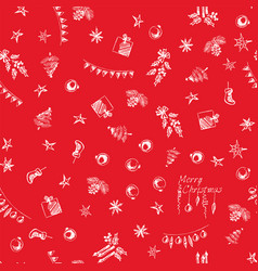 christmas pattern in pencil seamless wrapping vector image