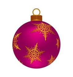 Christmas pink ball vector