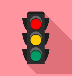 city traffic lights icon flat style vector image