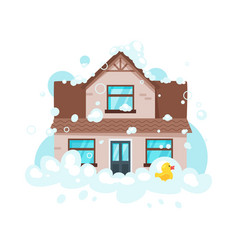 cleaning house concept vector image
